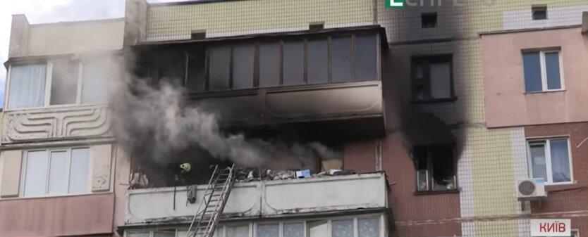 Пожар в квартире, гибель ребенка, Киев