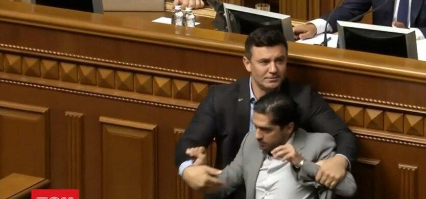 Гео Лерос и Николай Тищенко, драка в Раде, наказание