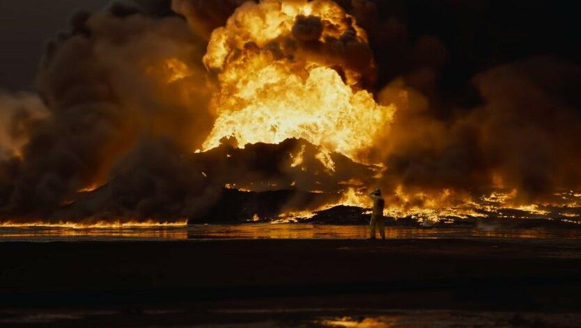 Большой Бурган, Кувейт, Пожар на нефтяном месторождении