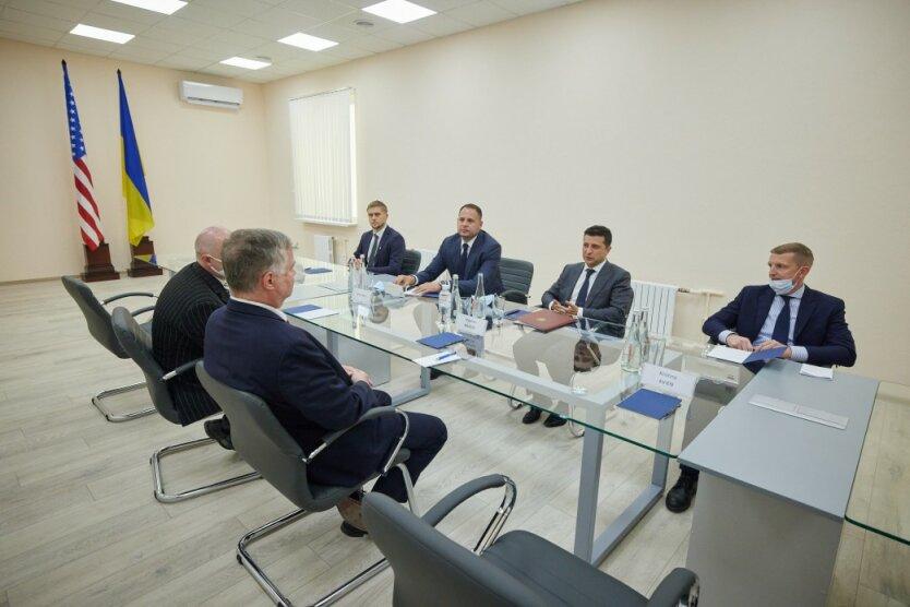 Встреча Владимира Зеленского и Стивена Бигана