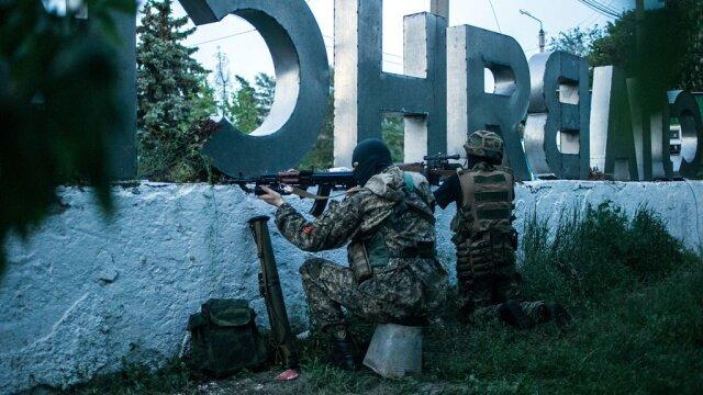 Обстрел ВСУ боевиками на Донбассе