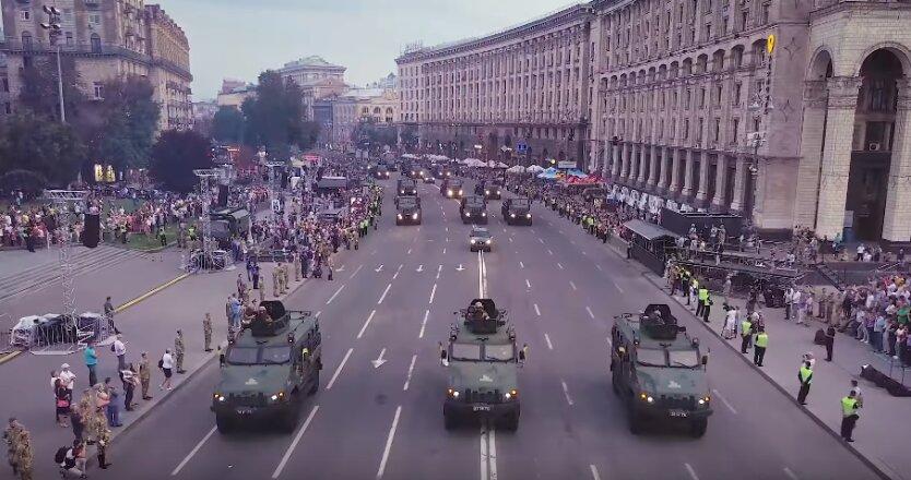 военный парад на Крещатике 2018