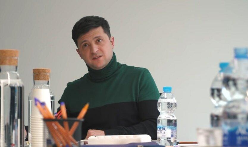 Владимир Зеленский, встреча с Макроном, война на Донбассе