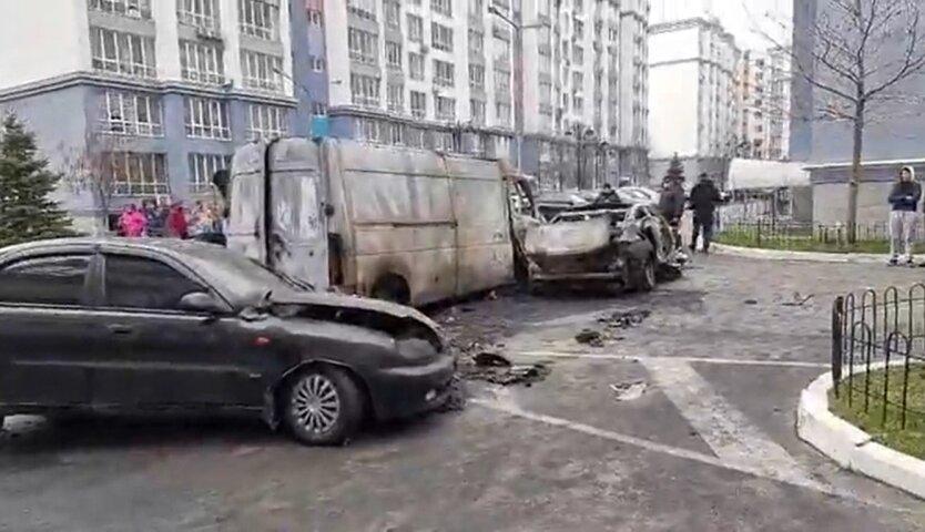 Пожар на территории ЖК, Киев, поджигатели