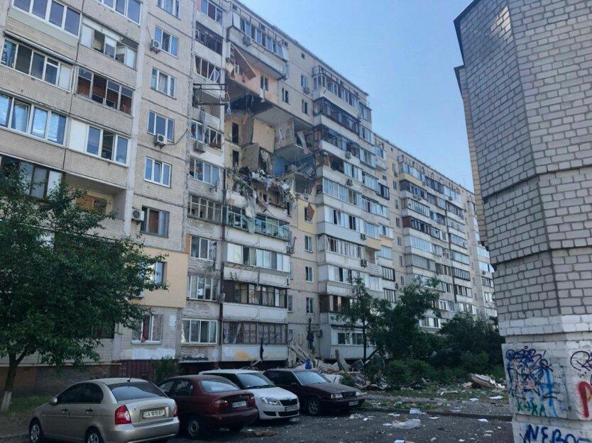 Взрыв в Киеве, взрыв жилого дома