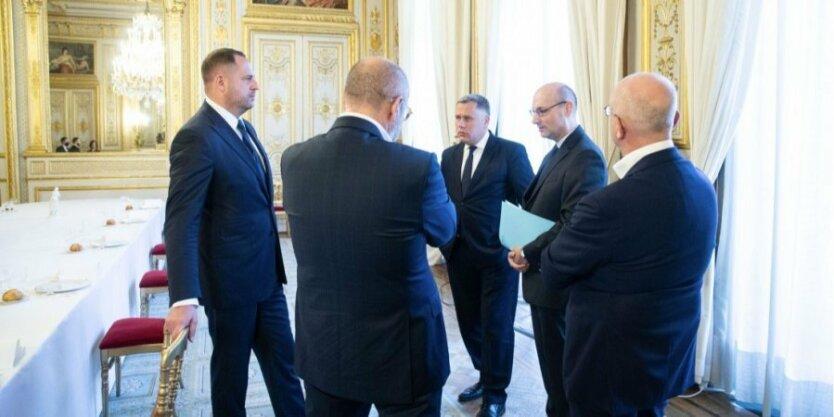 Украинская делегация в Париже, Андрей Ермак, Алексей Резников, Андрей таран