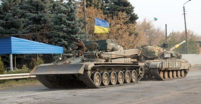 танк ВСУ, отвод вооружения