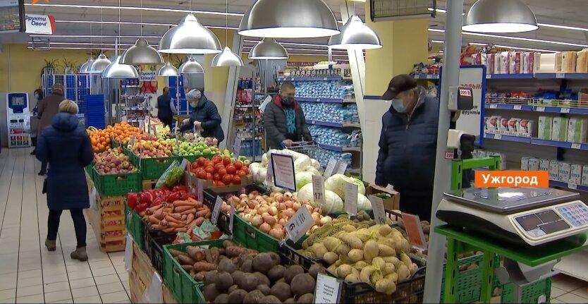 Продукты в Украине, овощи, подсолнечное масло