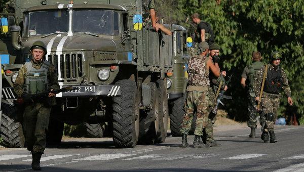 добровольцы военные АТО