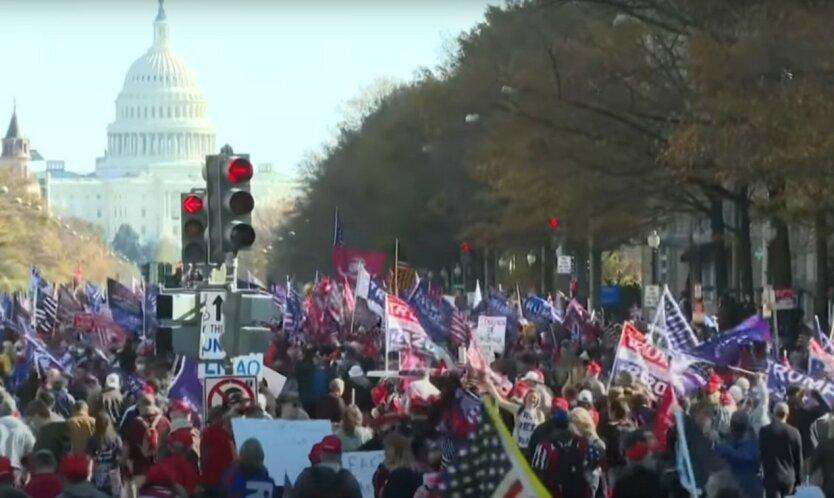 Марш сторонников Трампа в Вашингтоне завершился массовыми драками