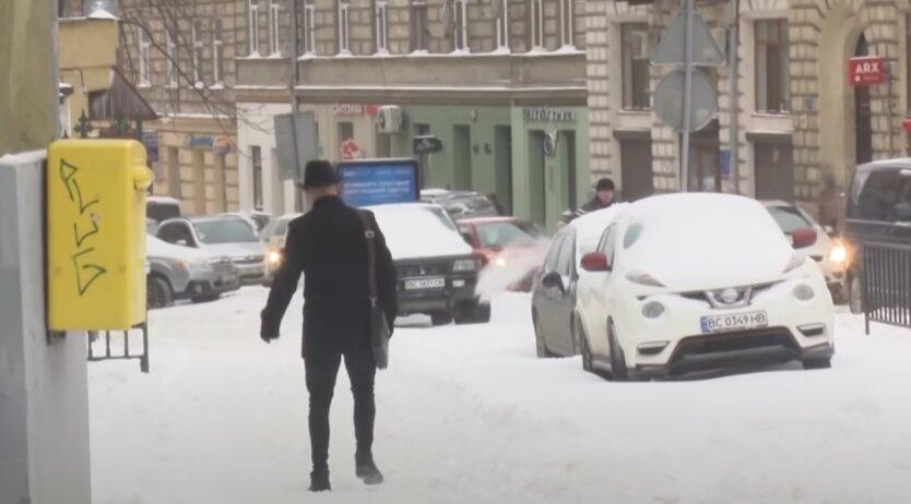 Зима, Украина, погода