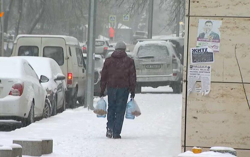 Снег в Украине, первый снег, октябрь