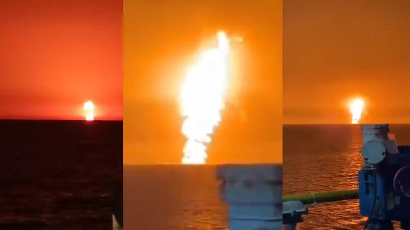 Взрыв в Каспийском море