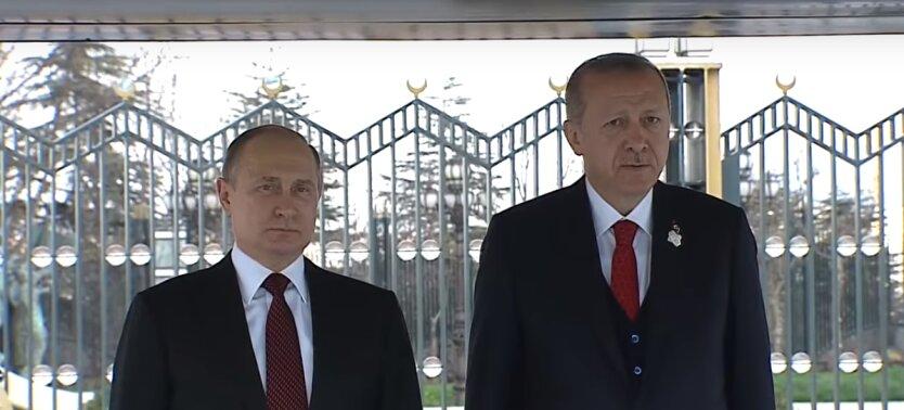 президент россии владимир путин и президент турции рейджеп эрдоган