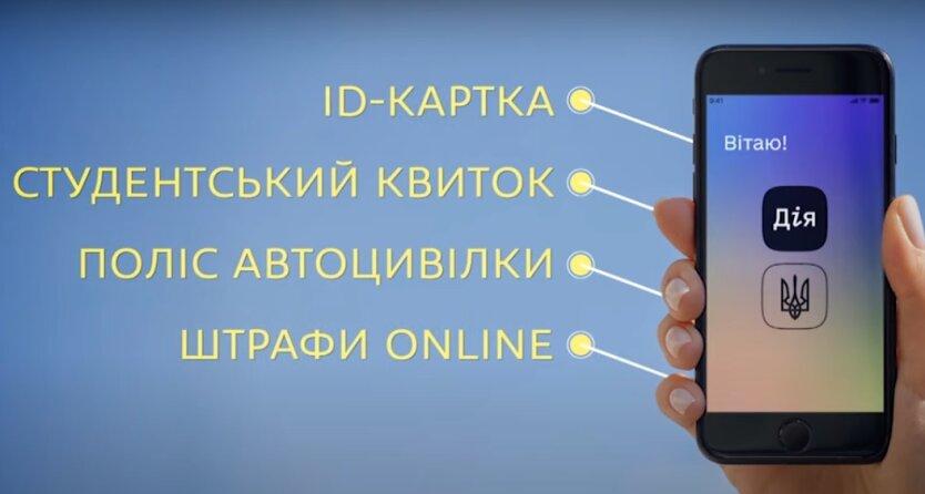 """Электронные документы в приложении """"Дия""""."""