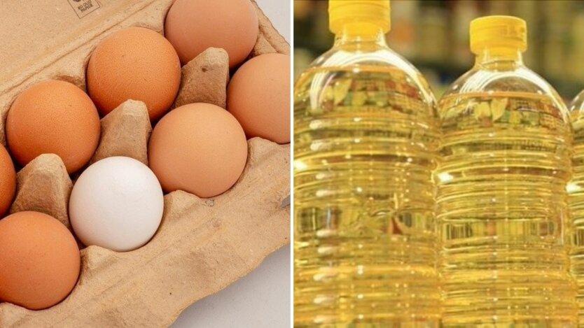 Украинцам показали новые цены на куриные яйца и подсолнечное масло в июле