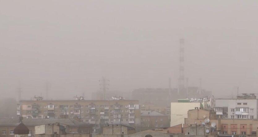 Киев, загрязнение воздуха, дым