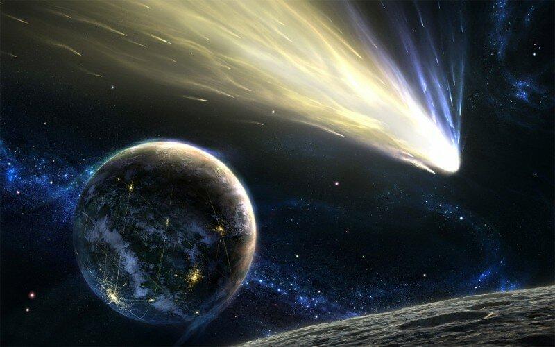 Комета земля космос