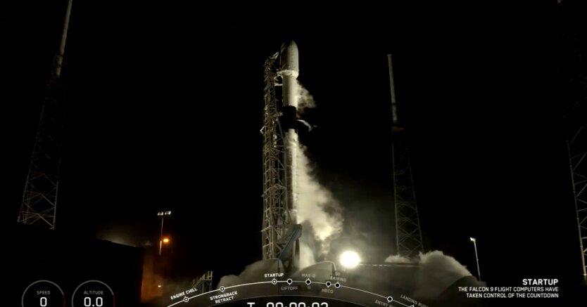 Запуск спутников Starlink