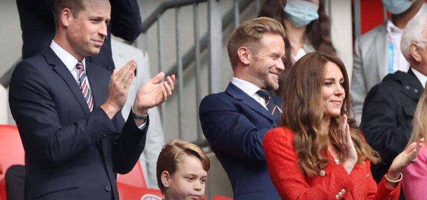 Принц Уильям и Кейт Миддлтон, евро-2020, матч англия