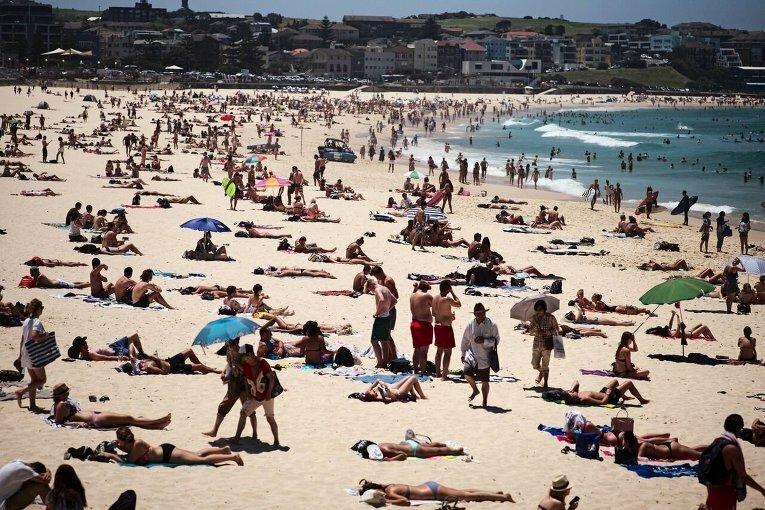 Австралия жара пляж