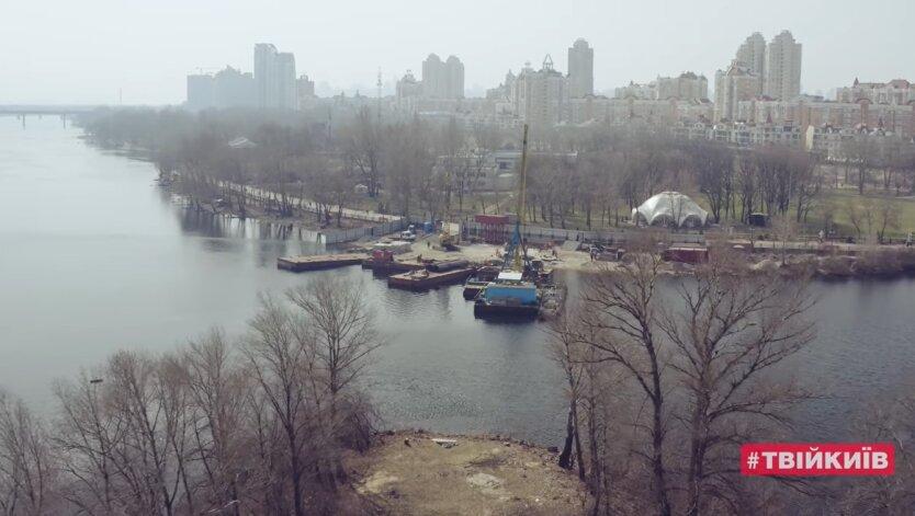 Строительство пешеходного моста на Оболони, Киев, Виталий Кличко