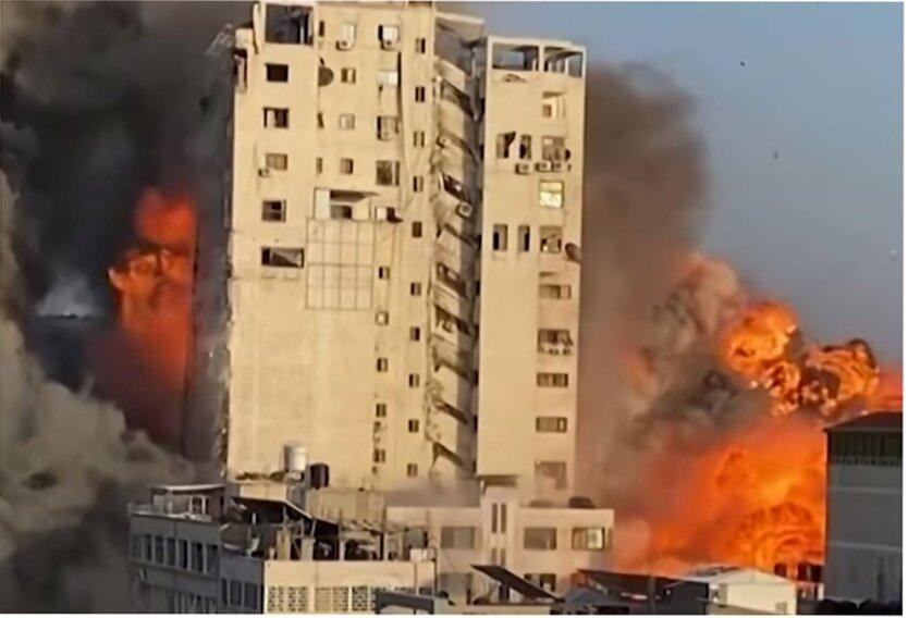 Бомбардировка The Media Tower, Палестино-израильский конфликт, Сектор Газа