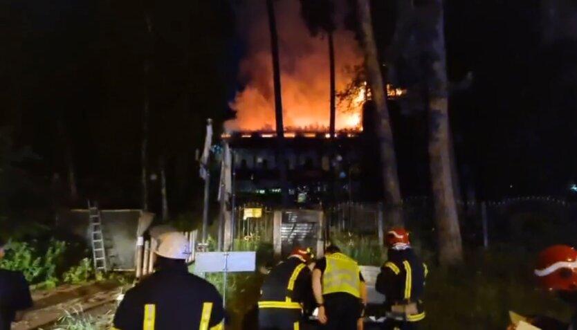 Пожар в Киеве , пожар, ресторан