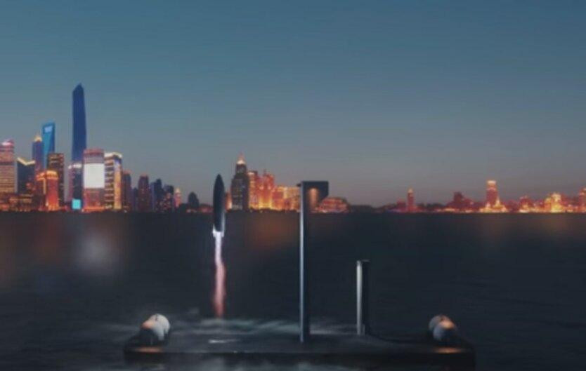Илон Маск,Плавучая платформа SpaceX,пилотируемые полеты в космос,полеты на Марс