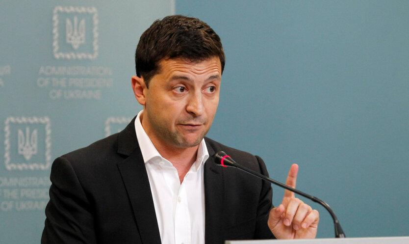 Ukrainian President Volodymyr Zelensky press-conference in Kiev