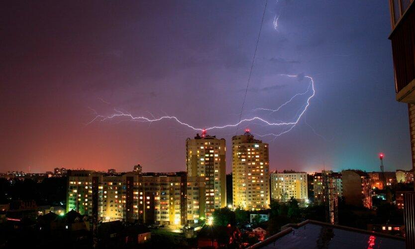 Гроза, погода в украине
