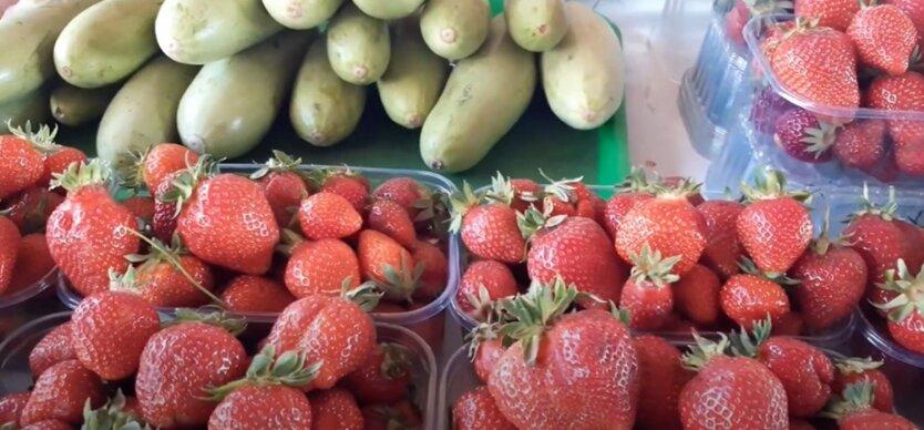 Цены на овощи и ягоды в Украине