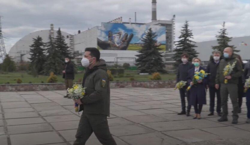Президент Украины Владимир Зеленский в Чернобыле
