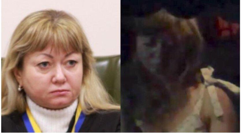 В Киеве судья на авто сбила столб и чудом не наехала на пешеходов