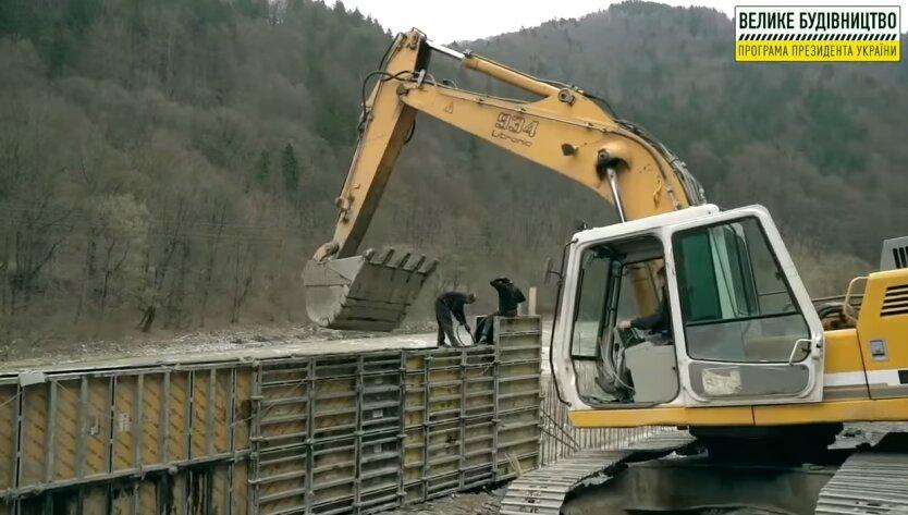 Строительство, подпорная стена, Укравтодор