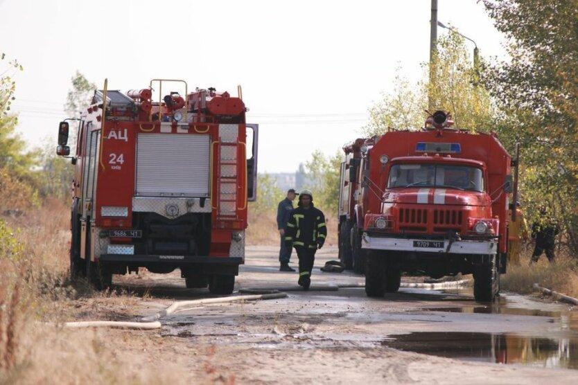пожар в Дарницком районе, пожар в киеве
