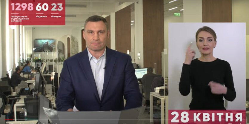 мэр Киева, Виталий Кличко ккоронавирус