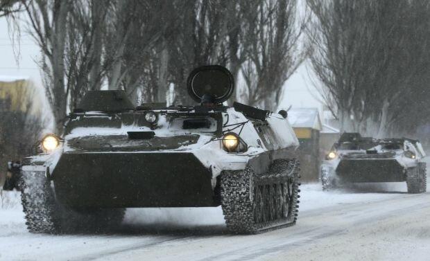 Дебальцево танки