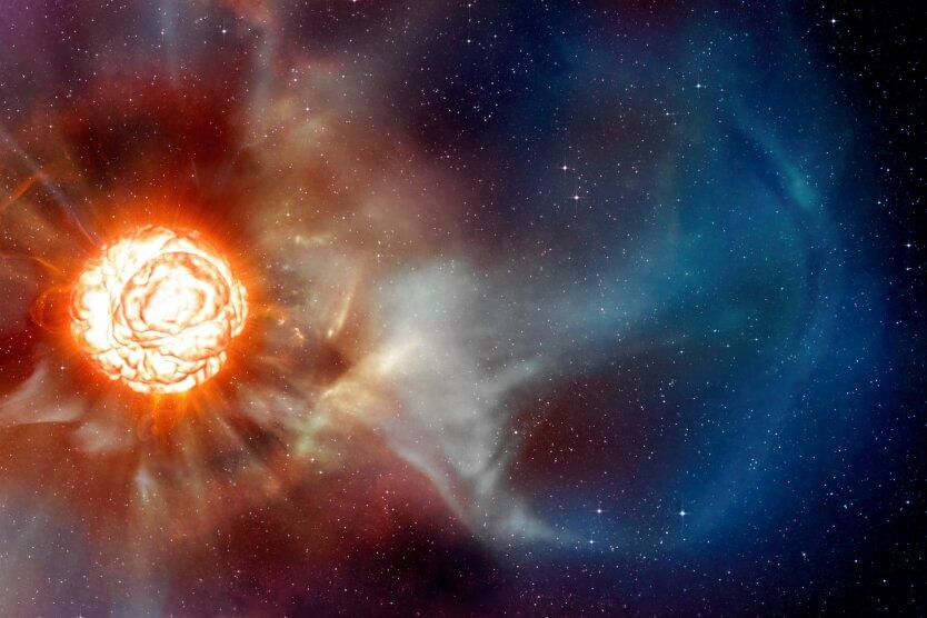 A plume on Betelgeuse (artist's impression)