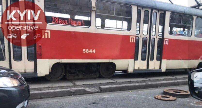 Киев, ЧП, трамвай