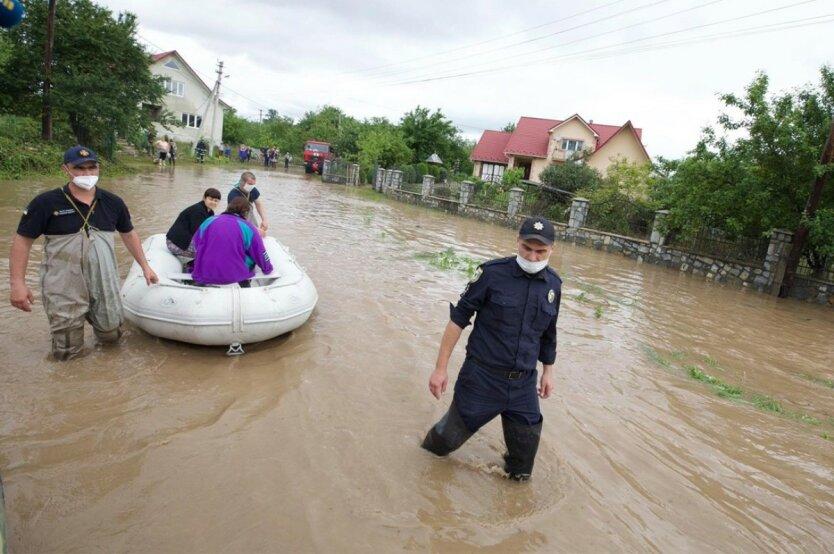 Паводки на западе Украины