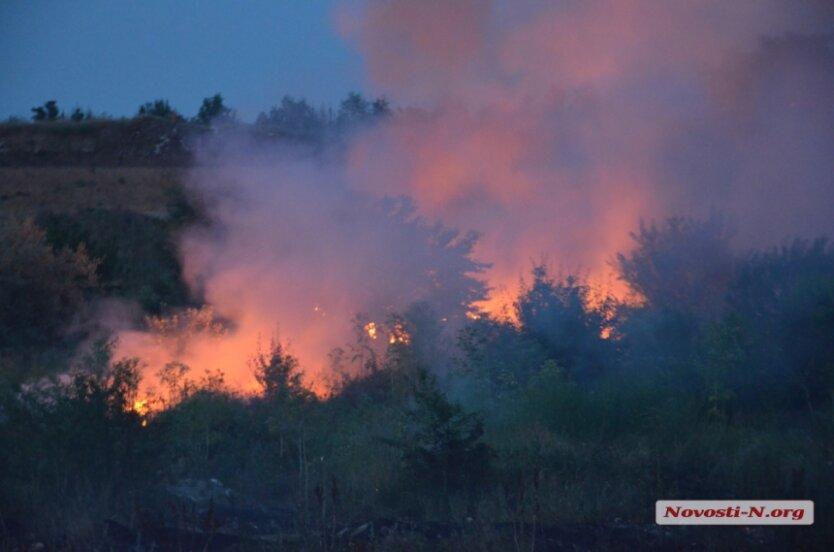 пожар на свалке в Николаеве