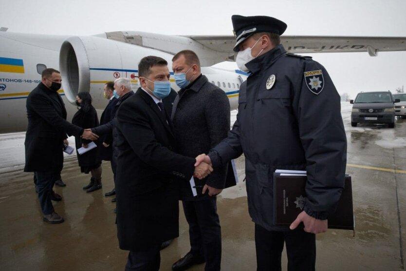 Президент Украины Владимир Зеленский в Харькове