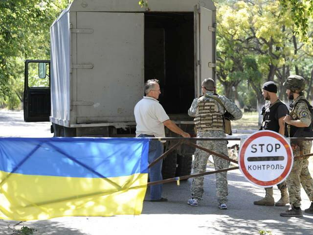 блокпост на выезде из Мариуполя 2