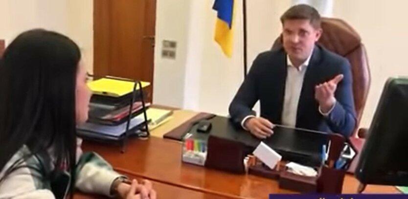 Губернатор Одесской области Максим Куцый, неудобный вопрос, выгнал журналистов