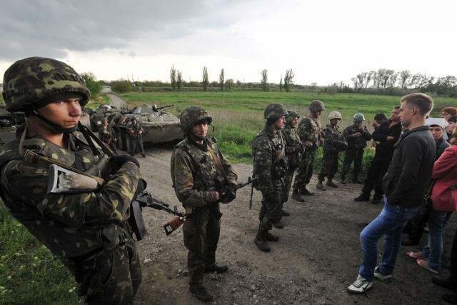 Украинская армия под Славянском