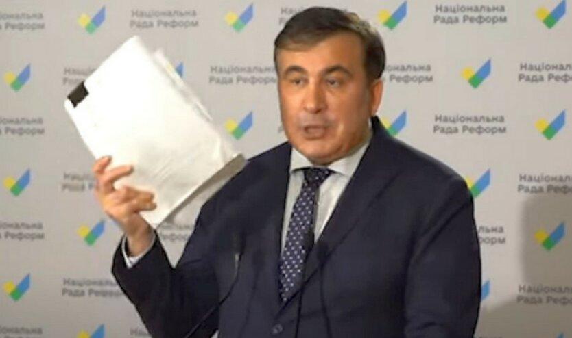 Саакашвили показал свое видение реформ на заседании  Нацсовета
