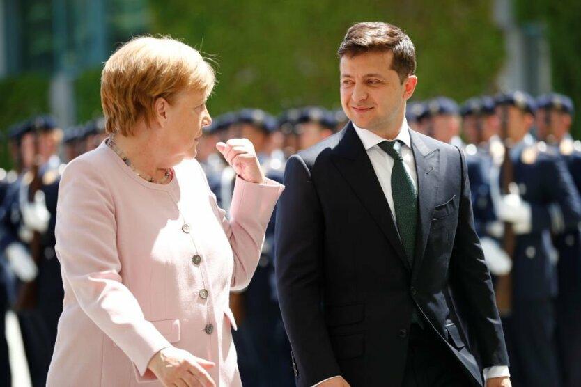 Ангела Меркель, Владимир Зеленский