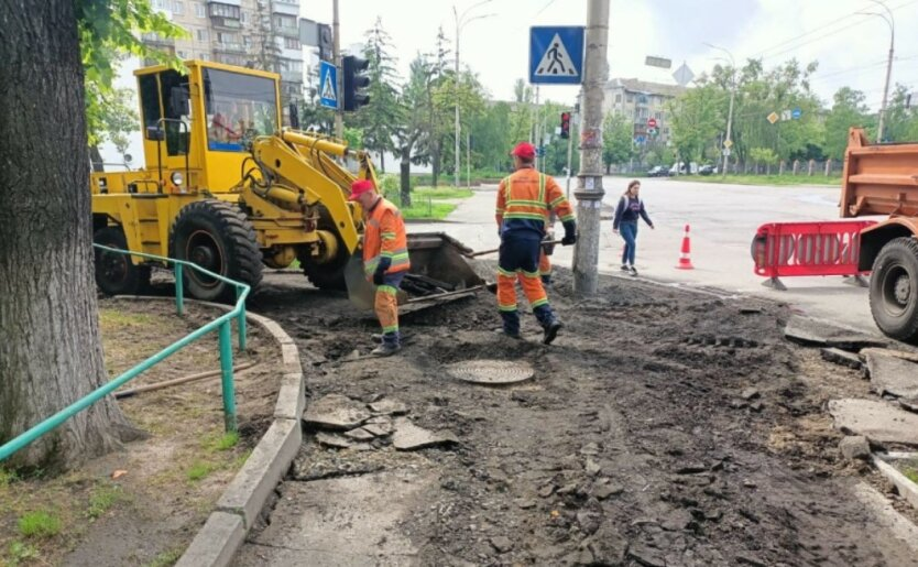 Ремонт дорог в Киеве, фото - Киевавтодор