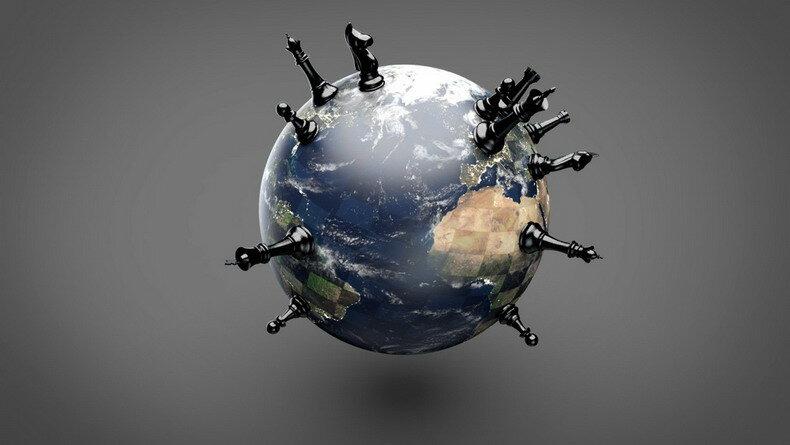 Globe — Pions noir